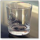 Voorbeeld glas gravering middels laser techniek