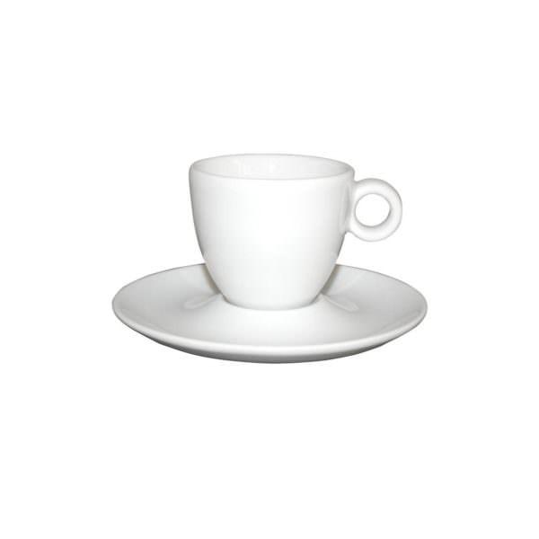 Bekijk de Bola Espresso laag wit 8 cl. Kop en schotels