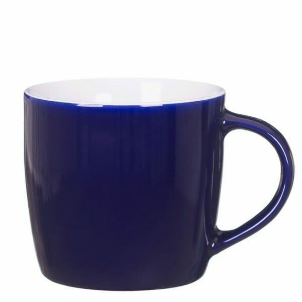 Bekijk de Duran kop donkerblauw-wit   32 cl