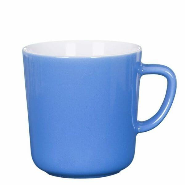 Bekijk de Mini kop lichtblauw-wit 25 cl