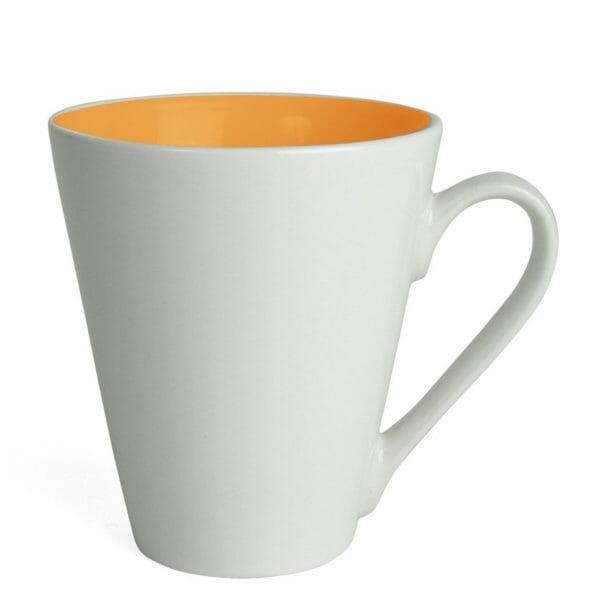 Bekijk de Atilla Color kop wit-oranje 26 cl