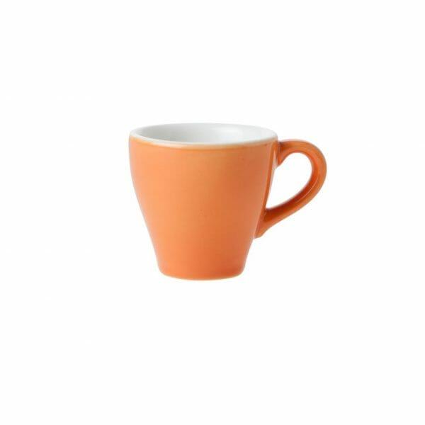 Bekijk de Barista Espresso Kop oranje 7 cl. Koppen en schotel Los