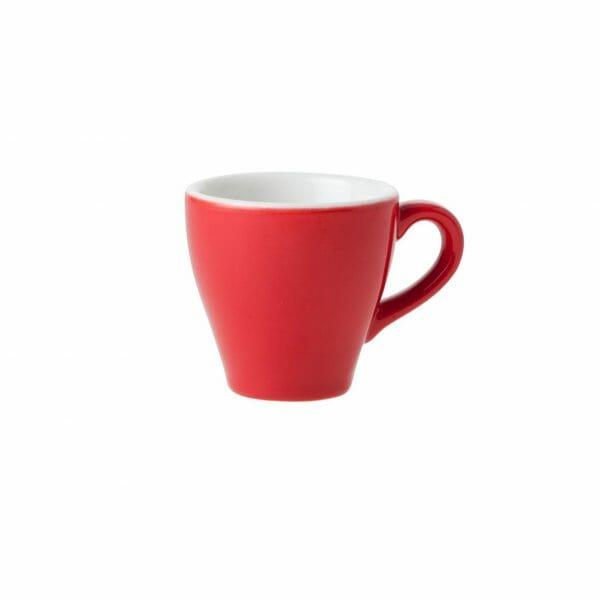 Bekijk de Barista Espresso Kop rood 7 cl. Koppen en schotel Los