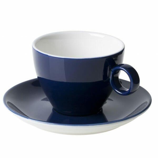 Bekijk de Bart Cappuccino blauw 23 cl. SET Kop en schotel Sets
