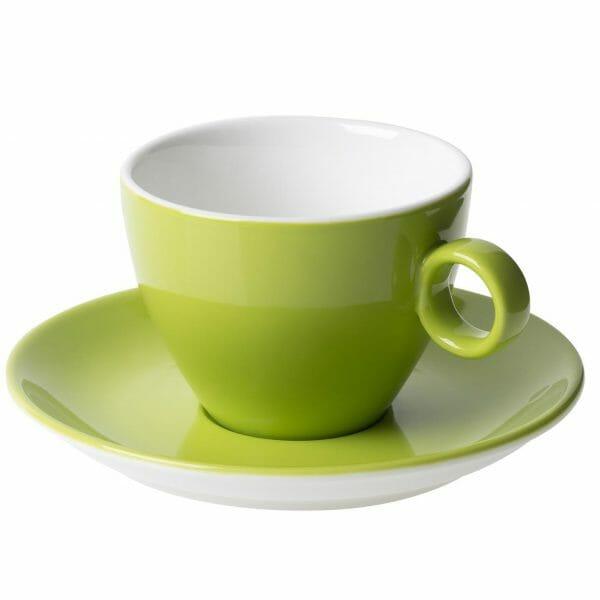 Bekijk de Bart Cappuccino groen 23 cl. SET Kop en schotel Sets