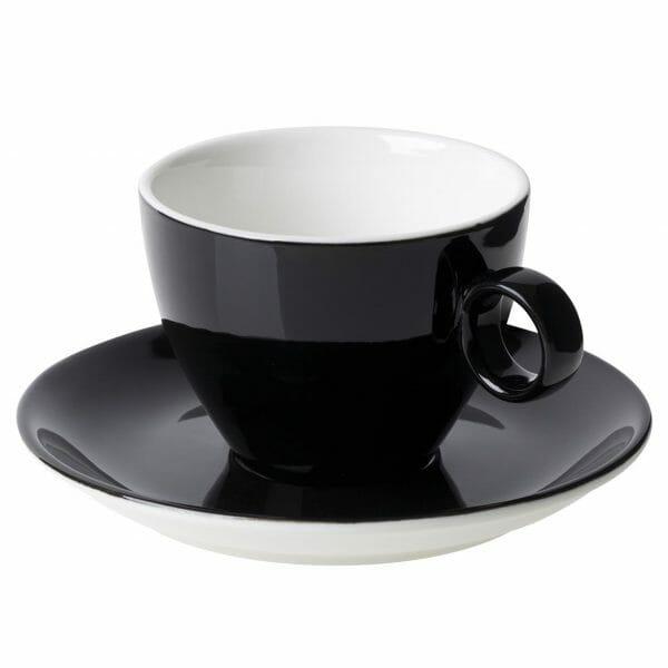 Bekijk de Bart Cappuccino zwart 23 cl. SET Kop en schotel Sets