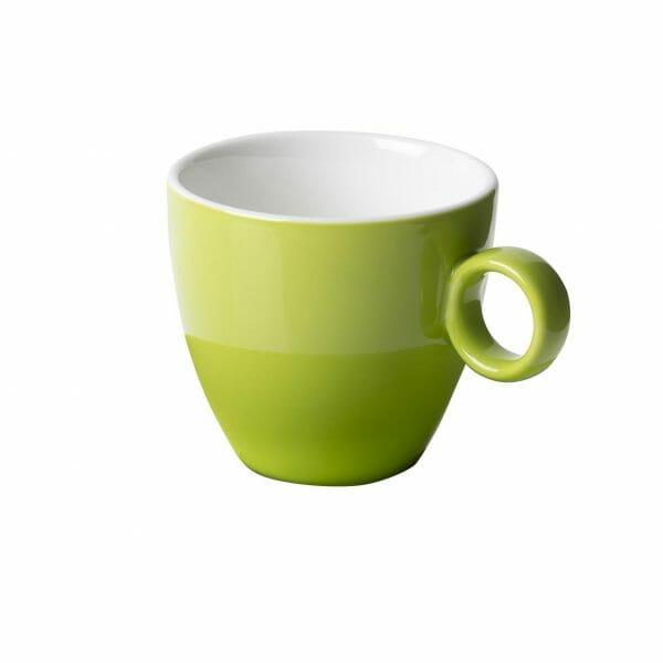 Bekijk de Bart Koffie Kop groen 17 cl. Koppen en schotel Los