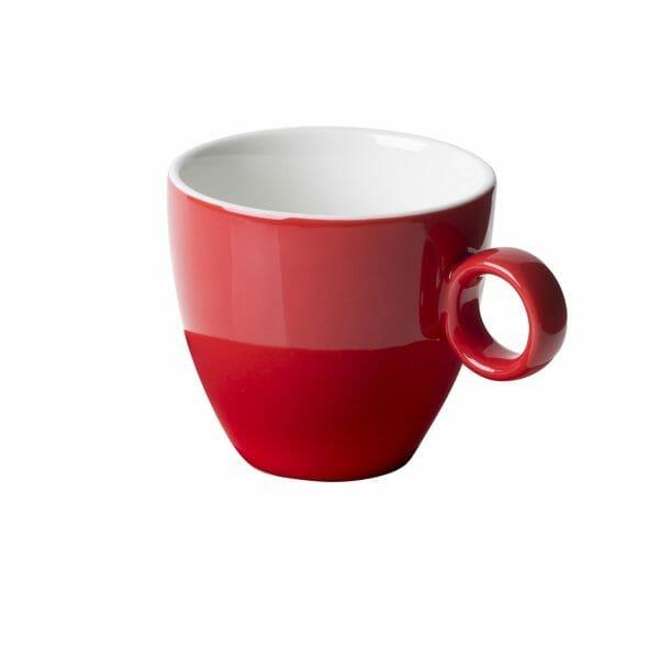 Bekijk de Bart Koffie Kop rood 17 cl. Koppen en schotel Los