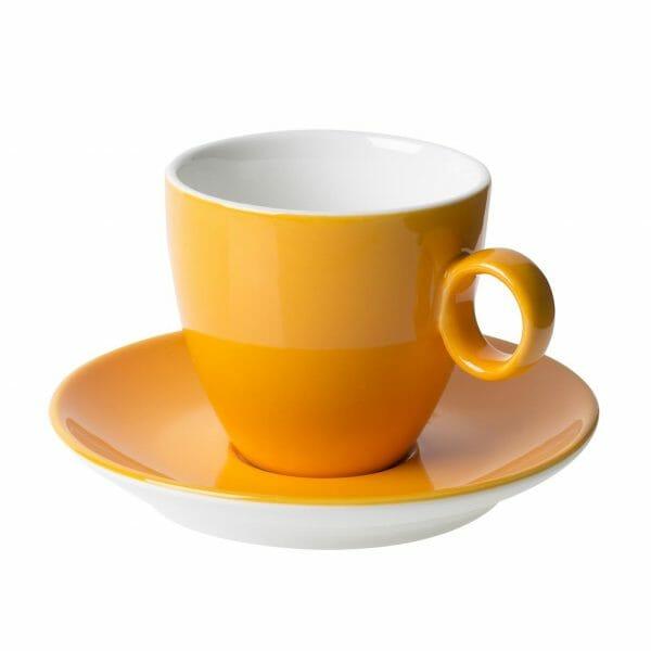 Bekijk de Bart Koffie oker 17 cl. SET Kop en schotel Sets