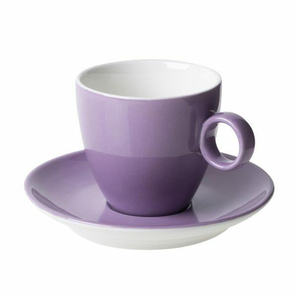 Bekijk de Bart Koffie paars 17 cl. SET Kop en schotel Sets