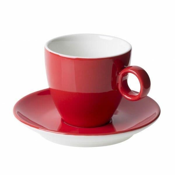 Bekijk de Bart Koffie rood 17 cl. SET Kop en schotel Sets