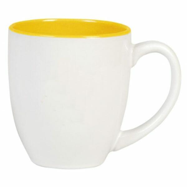 Bekijk de Big Drink mok wit-geel 50 cl. Mokken