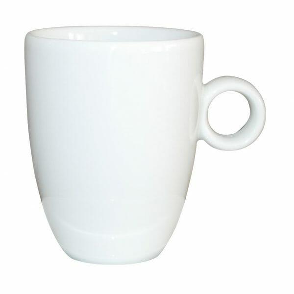 Bekijk de Bola Cappuccino Kop hoog wit 25 cl. Koppen en schotel Los