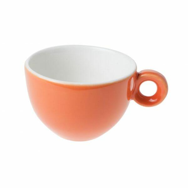 Bekijk de Bola Cappuccino Kop oranje-roomwit 20 cl. Koppen en schotel Los