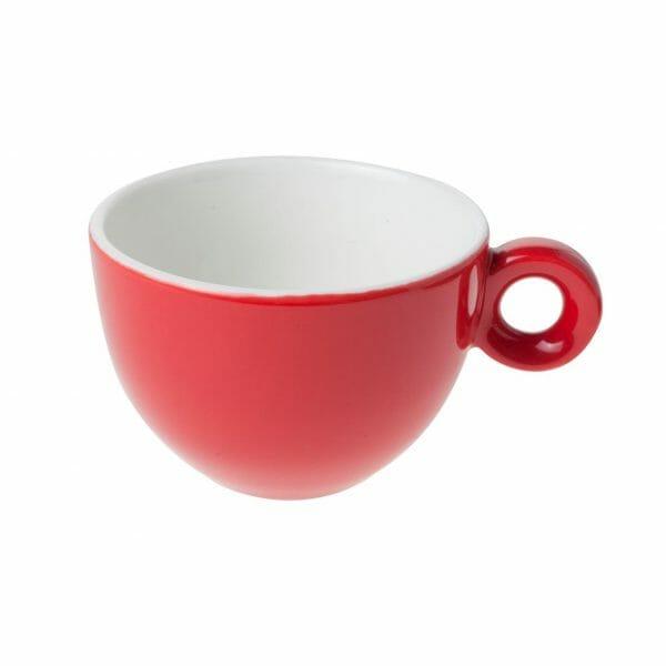 Bekijk de Bola Cappuccino Kop rood-roomwit 20 cl. Koppen en schotel Los