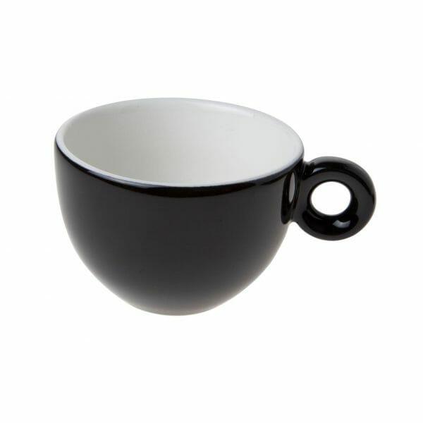 Bekijk de Bola Cappuccino Kop zwart-roomwit 20 cl. Koppen en schotel Los