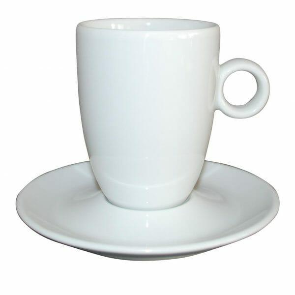 Bekijk de Bola Cappuccino hoog wit 25 cl. SET Kop en schotel Sets