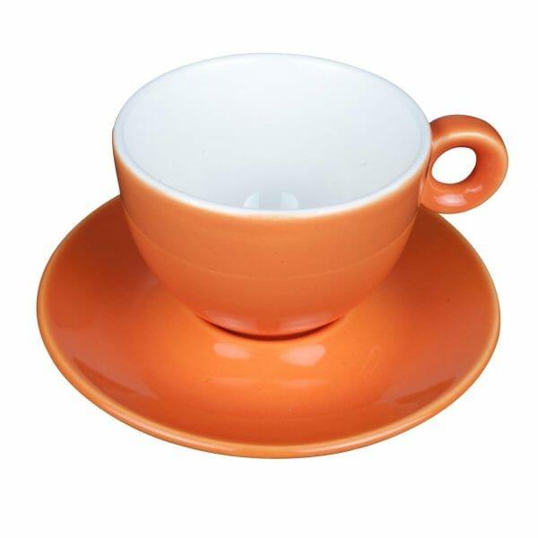 Bekijk de Bola Cappuccino oranje-roomwit SET Kop en schotel Sets