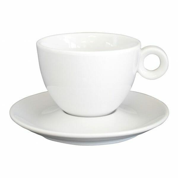 Bekijk de Bola Cappuccino wit 20 cl. SET Kop en schotel Sets