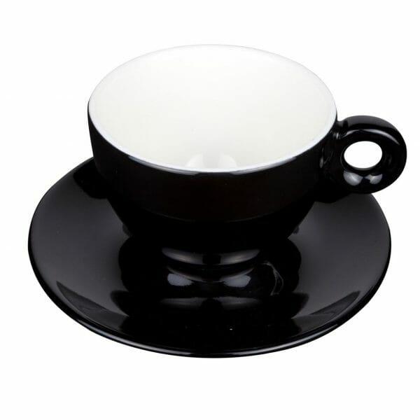 Bekijk de Bola Cappuccino zwart-roomwit 20 cl. SET Kop en schotel Sets