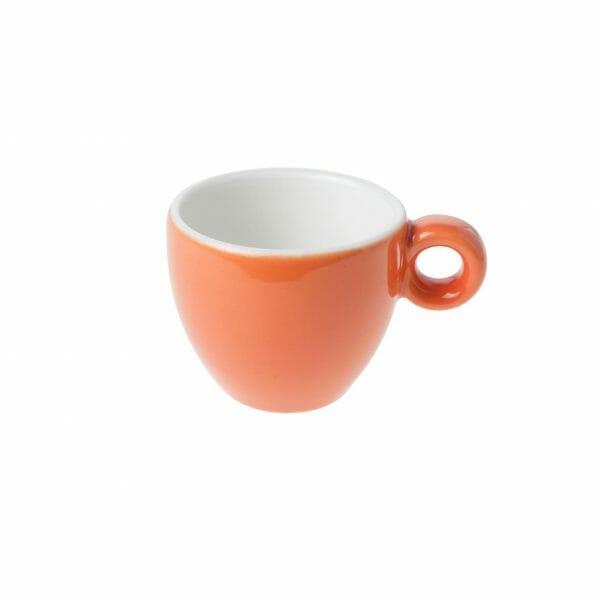 Bekijk de Bola Espresso Kop oranje-roomwit 8 cl. Koppen en schotel Los