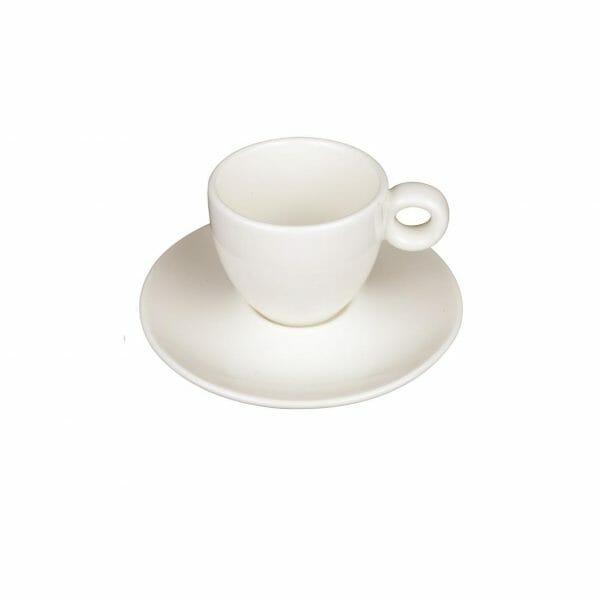 Bekijk de Bola Espresso roomwit 8 cl. SET Kop en schotel Sets