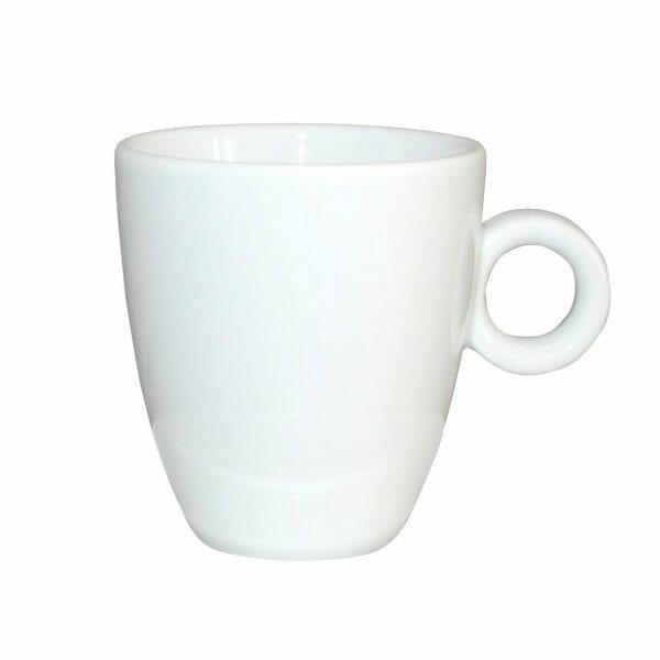 Bekijk de Bola Koffie Kop hoog wit 19 cl. Koppen en schotel Los