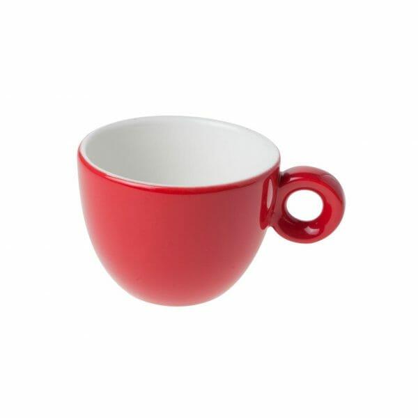 Bekijk de Bola Koffie Kop rood-roomwit 15 cl. Koppen en schotel Los