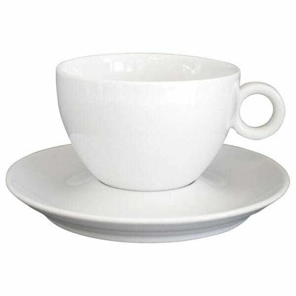 Bekijk de Bola Koffie Verkeerd wit 28 cl. SET Kop en schotel Sets