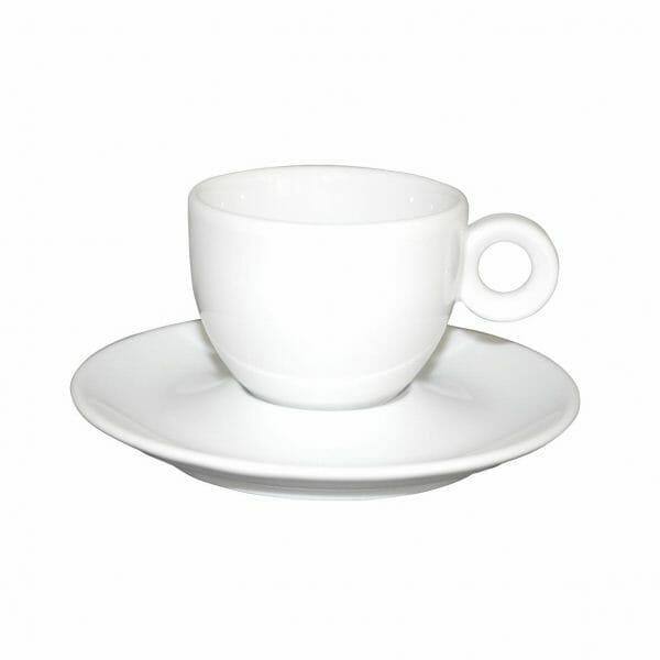 Bekijk de Bola Koffie wit 15 cl. SET Kop en schotel Sets