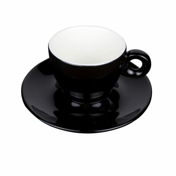 Bekijk de Bola Koffie zwart-roomwit 15 cl. SET Kop en schotel Sets
