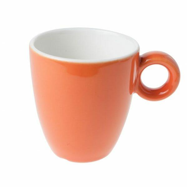 Bekijk de Bola mok oranje-roomwit 19 cl. Mokken