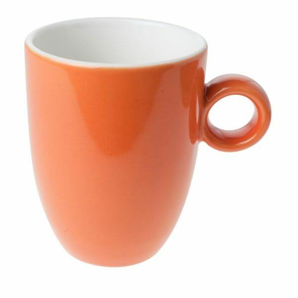 Bekijk de Bola mok oranje-roomwit 25 cl. Mokken
