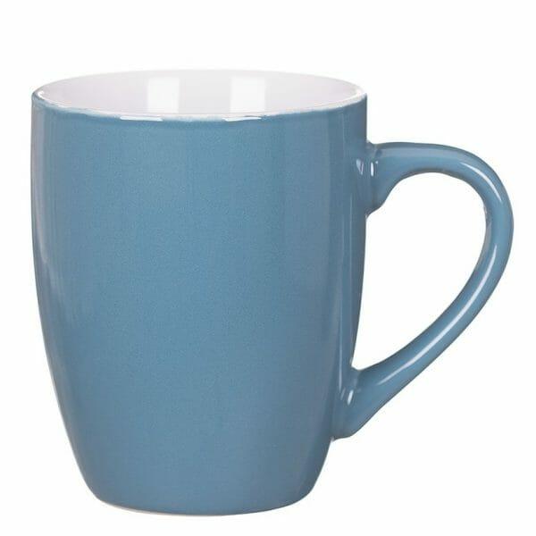 Bekijk de Bravo kop turquoise-wit 32 cl