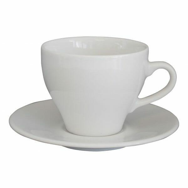 Bekijk de Dom Cappuccino wit 20 cl. SET Kop en schotel Sets