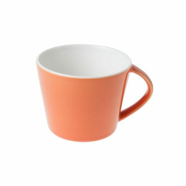 Bekijk de Eva Koffie Kop oranje-roomwit 20 cl. Koppen en schotel Los