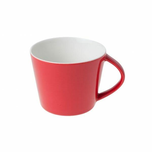 Bekijk de Eva Koffie Kop rood-roomwit 20 cl. Koppen en schotel Los