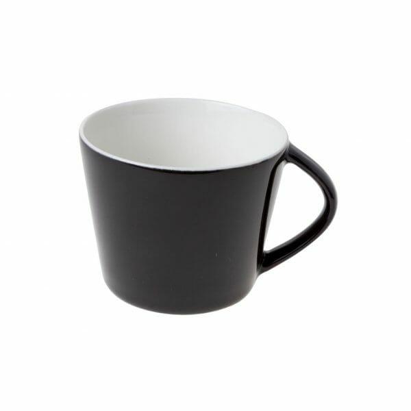 Bekijk de Eva Koffie Kop zwart-roomwit 20 cl. Koppen en schotel Los