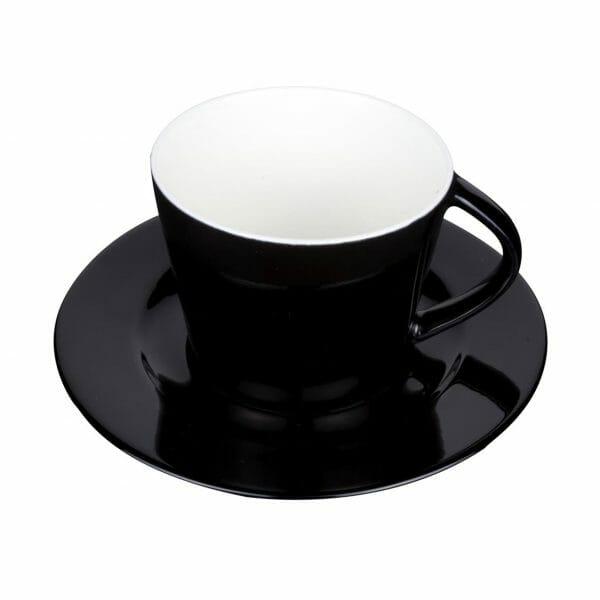 Bekijk de Eva Koffie zwart-roomwit 20 cl. SET Kop en schotel Sets