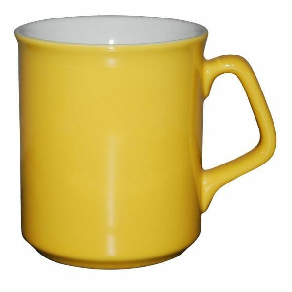 Bekijk de Ilse mok geel-wit 25 cl. Mokken