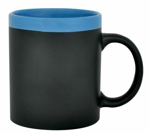 Bekijk de Krijt mok zwart-blauw 31 cl