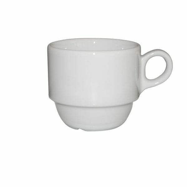 Bekijk de Legio Koffie Kop wit 16 cl. Koppen en schotel Los