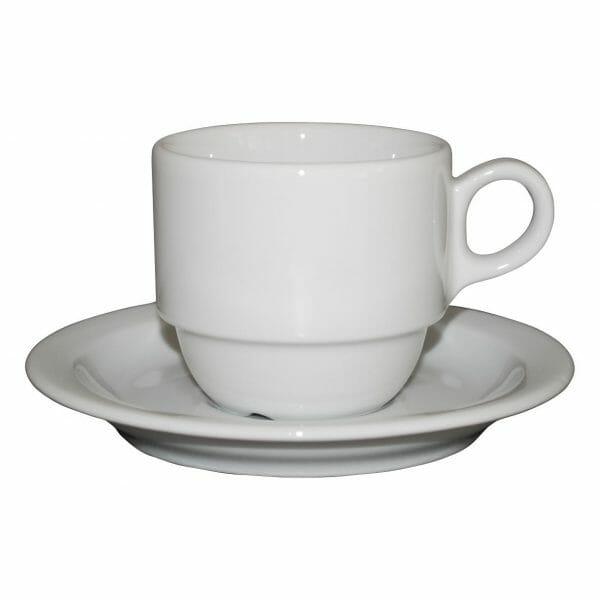 Bekijk de Legio Koffie wit 16 cl. SET Kop en schotel Sets