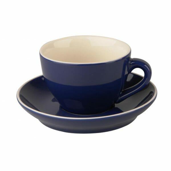 Bekijk de Robusta Cappuccino blauw 20 cl.SET Kop en schotel Sets