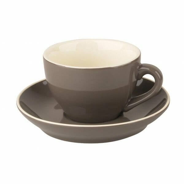 Bekijk de Robusta Cappuccino grijs 20 cl.SET Kop en schotel Sets
