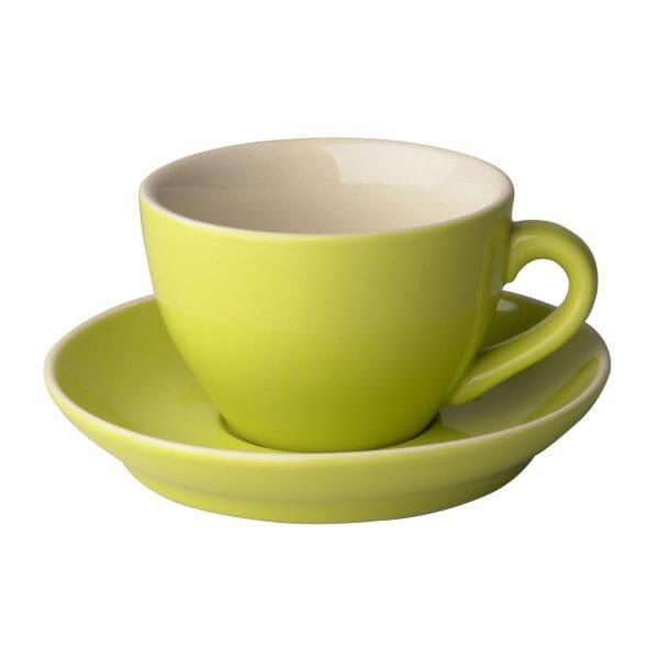 Bekijk de Robusta Cappuccino groen 20 cl.SET Kop en schotel Sets