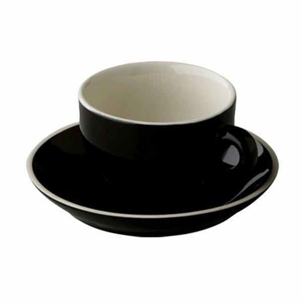 Bekijk de Robusta Cappuccino zwart 20 cl.SET Kop en schotel Sets
