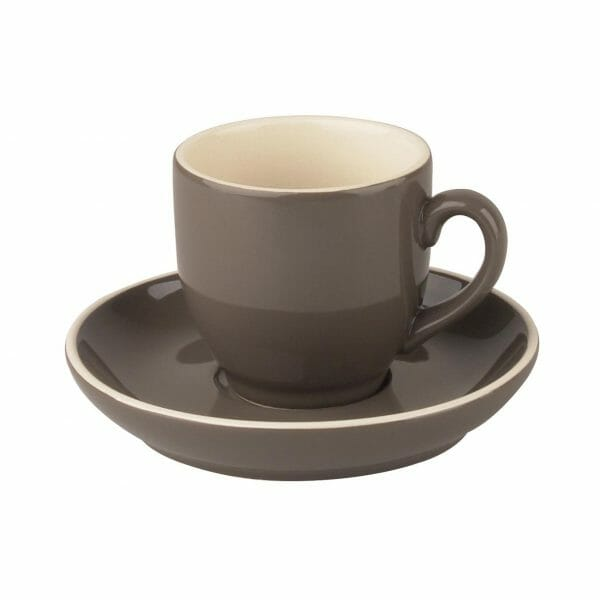 Bekijk de Robusta Koffie grijs 15 cl. SET Kop en schotel Sets