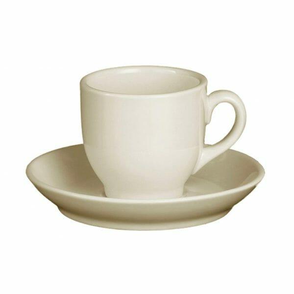 Bekijk de Robusta Koffie ivoor 15 cl. SET Kop en schotel Sets