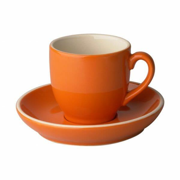 Bekijk de Robusta Koffie oranje 15 cl. SET Kop en schotel Sets